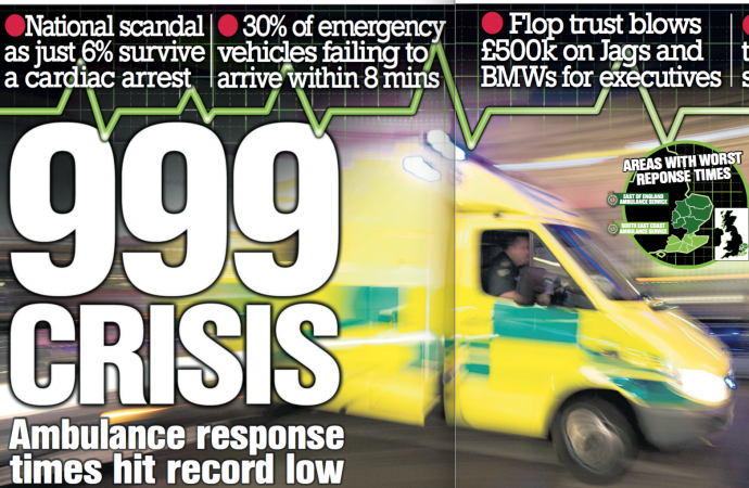 999 Crisis: Ambulance response times across the UK hit a record low