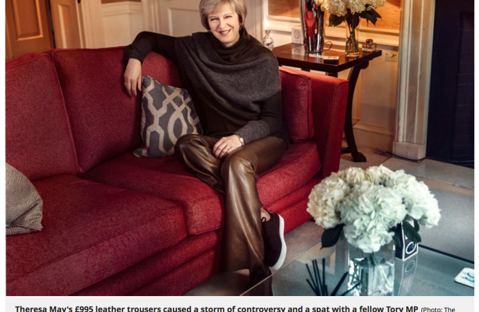 Hell for leather: how low paid workers made Theresa May's trousers