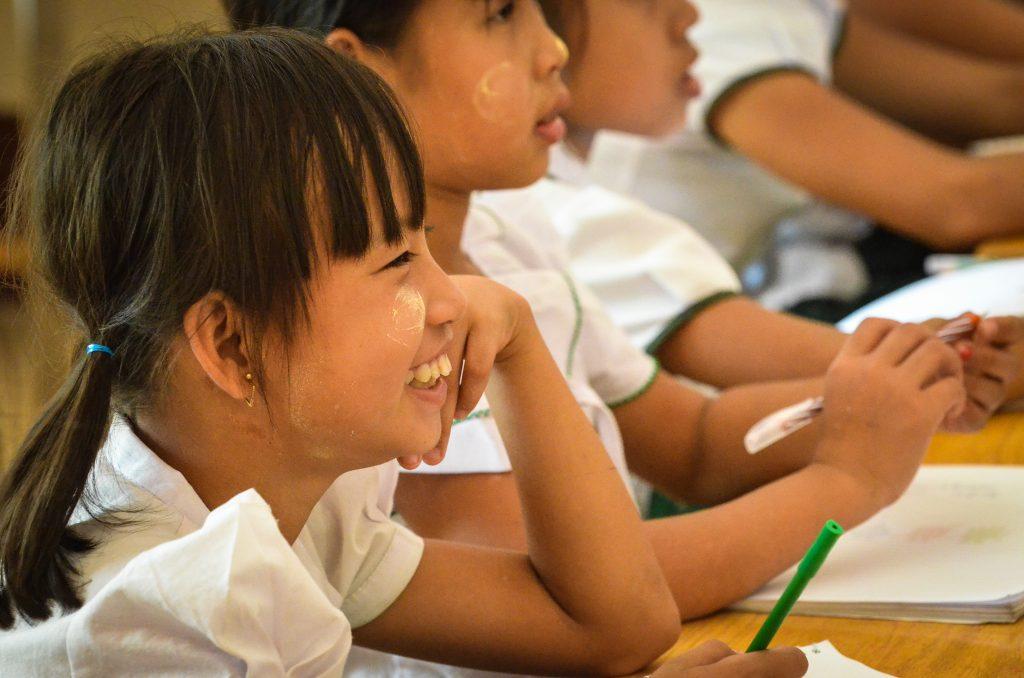 Schoolchildren, Kwin Ka Lay village, Kayin State.